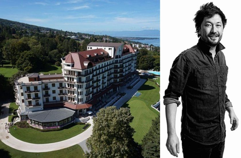 Pierre-Sang Boyer, parrain de la promotion 2019 de l'Evian Resort Pratical School