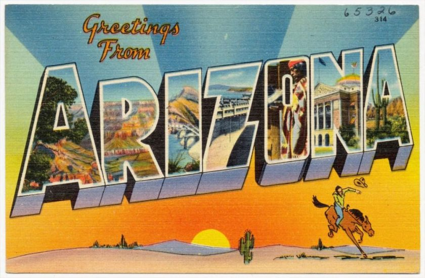 Cartes postales d'Arizona